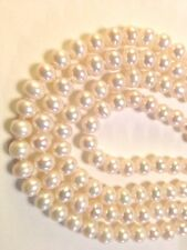 Endless Pearl Nacklace--White Freshwater Pearl-- 120cm