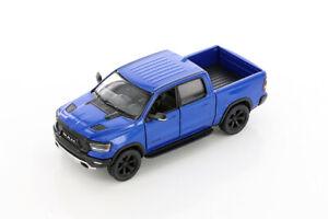 "5"" Die-cast: BLUE 2019 RAM 1500 Pickup Truck 1/46 Scale Diecast Model car"