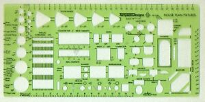 Template Designs TD1538 HOUSE PLAN FIXTURES DRAWING TEMPLATE