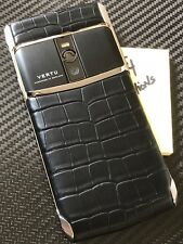 "Brand NEW Genuine Vertu Signature Touch 5.2"" Jet Alligator Black Extremely RARE"