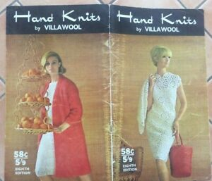 VINTAGE KNITTING AND CROCHET PATTERN BOOK - HANDKNITS BY VILLAWOOL