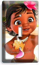 BABY MOANA CUTE HAWAIIAN LITTLE GIRL LIGHT SINGLE SWITCH WALL COVER ROOM DECOR