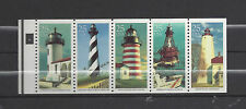 Rare 1990 Lighthouses Unfolded Pane, Scott #2474a, Plate #4, Special Purchase