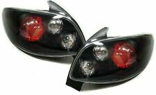 Clear glass black finish rear tail lights rear lights for Peugeot 206 3 5 door