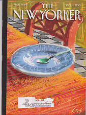OCT 4 2010 NEW YORKER vintage magazine - SPOON IN BOWL