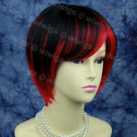 Wiwigs Lovely Short Cosplay Red & Black Mix Ladies Wig