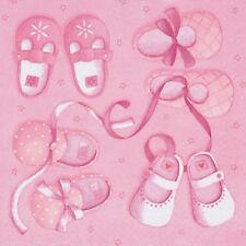 20 x BAUTIZO NUEVO Baby Shower Servilletas Servilletas Rosa 3 CAPAS CALIDAD