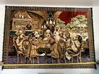 Vintage Tapestry Dogs Playing Cards P&C Italy Welvet **RARE LARGE SIZE* 69 X 48