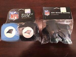 Carolina Panthers NFL High Quality 1 Set Plush Dice & 1 Hanging Boxing Gloves