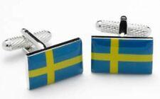 Swedish Flag Countries Country Sweeden Cufflinks Cuff Links