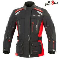 "Büse ""Highland"" Damen-Motorradjacke in Größe 36 38 40 oder 42, Schwarz-Rot"