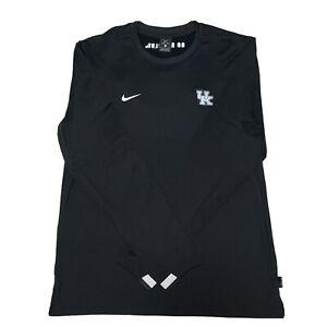Mens Nike Kentucky Wildcats Coaches LS Pullover Sweatshirt Sz L CQ5049-010