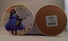 HOLY CRAP by Erin Smith Art DRAMA coaster - set of four A25453 - NIB