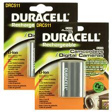 Duracell DRC511Bundle Twin Pack 7.4v 1400mAh Rechargable Batteries For Camnera