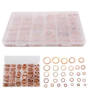 568x Kupferringe Dichtring Sortiment Set Kupfer Dichtungen Ölablaßschrauben Box