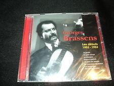 "CD NEUF ""GEORGES BRASSENS, LES DEBUTS 1952-1953"""