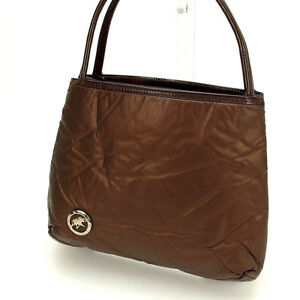 HUNTING WORLD Handbag Brown Woman Authentic Used C1114