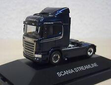 Herpa - Scania R450 HL Streamline Solo-ZM dunkelblau-metallic Werbemodell - 1:87