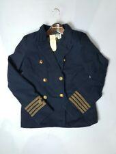 Denim & Supply Ralph Lauren twill Cotton WOMEN military Naval JACKET/BLAZER (M)