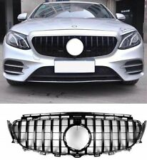 MERCEDES E CLASS W213 PANAMERICANA GT GTR GRILLE 16-18 COMPLETE GLOSS BLACK ABS
