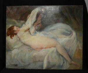 Tableau huile sur toile Femme et enfant- qualité