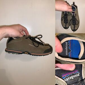 Patagonia Thatcher Pumice Vibram Hiking Shoes Womens Size 7.5 Athletic Green