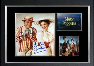 MARY POPPINS AUTOGRAPHED MOVIE MOUNTED PRINT
