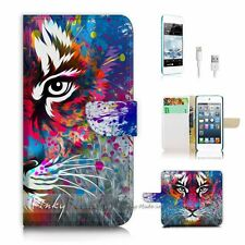( For iPod 6 / itouch 6 ) Flip Case Cover P3076 Tiger