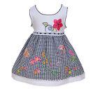 NEUF bébé filles blanc et Noir Floral robe de fête 9-12 mois