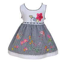 New Baby Girls White and Black Floral Party Dress 18-24 Months