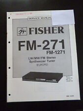 Original Service Manual  Fisher Synthesizer Tuner FM-271