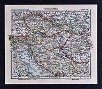 c1925 Taschen Atlas Map Venice Italy Hungary Budapest Bohemia Transylvania