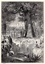 Religious Art print c 1910 The Altar on Mount Ebal Frederic Lix Alsatian artist