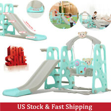 Toddler Swing & Slide Set And Backyard Baskets Kit Indoor/Outdoor playground Toy