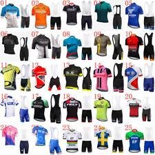 2019 New Bicycle uniform Men Team Bike Cycling Jersey Bike shirt bib Shorts Suit