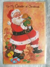 Vintage Retro 1980s Christmas Card - For My Cousin At Christmas