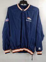 VTG Starter Denver Broncos ProLine XXL Men's 2XL Pullover Jacket Jersey Lined