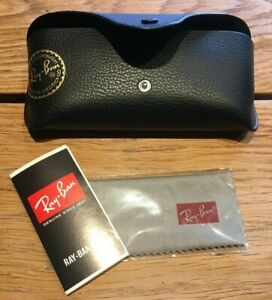 Ray Ban Black Sunglasses Glasses Case with Free Ray Ban Cleaning Cloth NEW