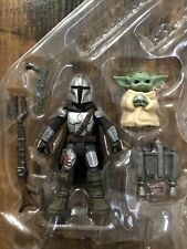 "Star Wars Mission Fleet Mandalorian Mando And The Child 2.5"" Action Figure Loose"