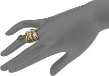 NEW Alexis Bittar Gold Miss Havisham Kinetic Labradorite Crystal Dangle Ring 7