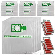 20 HEPA Cloth Hoover Bags for NUMATIC HETTY HET200 HET200a Vacuum + Fresheners