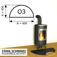 Kaminbodenplatte ✔ Funkenschutz Ofenplatte ✔ Kaminofenplatte ✔ Stahl schwarz O3
