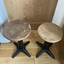 More details for pair of singer - cast iron - stools- antique - vintage - machinist
