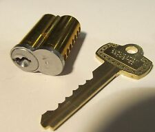 NEW 7-PIN BRASS/STAINLESS LOCK CORE WITH DUPLICATION PROHIBITED KEY BEST/ ILCO?