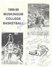 1990 Muskingum vs Marietta Basketball Program Signed HC Jim Burson 2AC 12PL