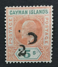 MOMEN: CAYMAN ISLANDS SG #18 1907 MINT OG H LOT #192821-1485