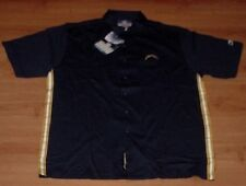 San Diego Chargers Dress Polo Shirt Large Full Button Up Navy Embroidered NFL