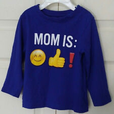 """THE CHILDREN PLACE Shirt Size 2T """"MOM IS:"""" Blue Long Sleeve    NWOT!       (B46)"""
