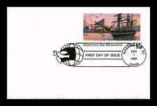 DR JIM STAMPS US SHIP HARBOR AMERICA BEAUTIFUL FIRST DAY POSTAL CARD