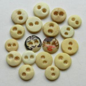 Handmade Natural Bone Buttons 32mm 2 pcspk Cut Out Flower Antique BlackIvory #1956